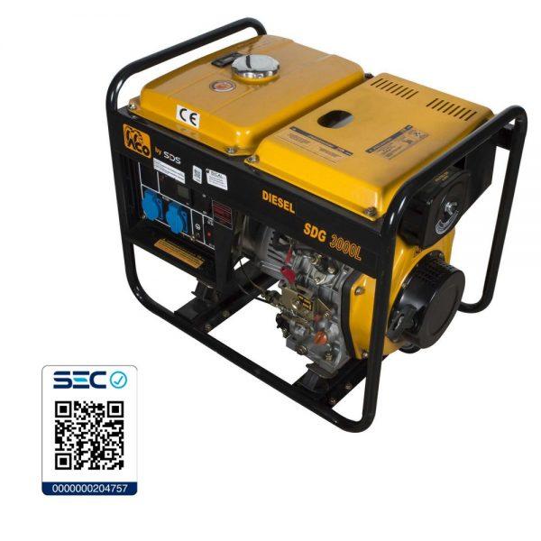Generador Diesel 2,8 Kw 220 V Sdg3000L-SDS POWER - El Cuarto de Herramientas