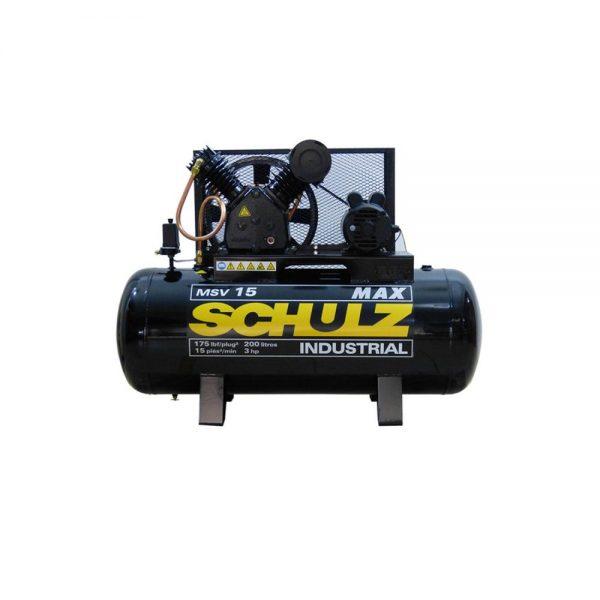 Compresor 3Hp 200L 220V Msv15Max/200 932.335-SCHULZ - El Cuarto de Herramientas