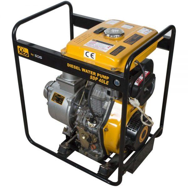 Motobomba Diesel 4'; Arranque Electrico Sdp40Le-SDS POWER - El Cuarto de Herramientas