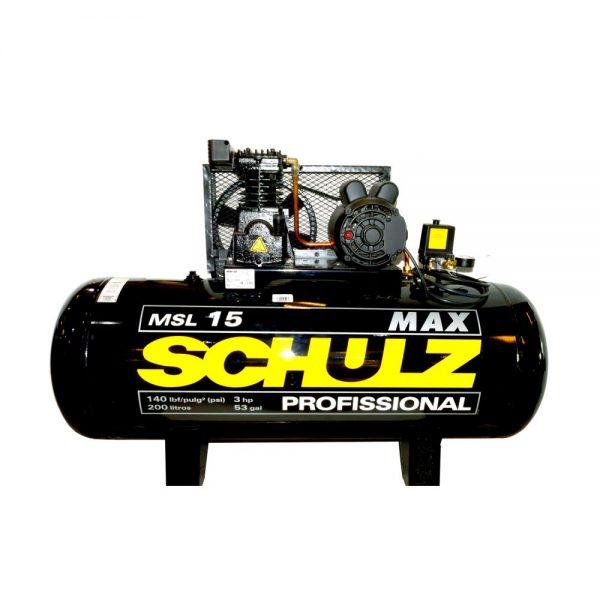Compresor 3Hp 200L 220V Msl 15Max/200 932.3415-0-SCHULZ - El Cuarto de Herramientas