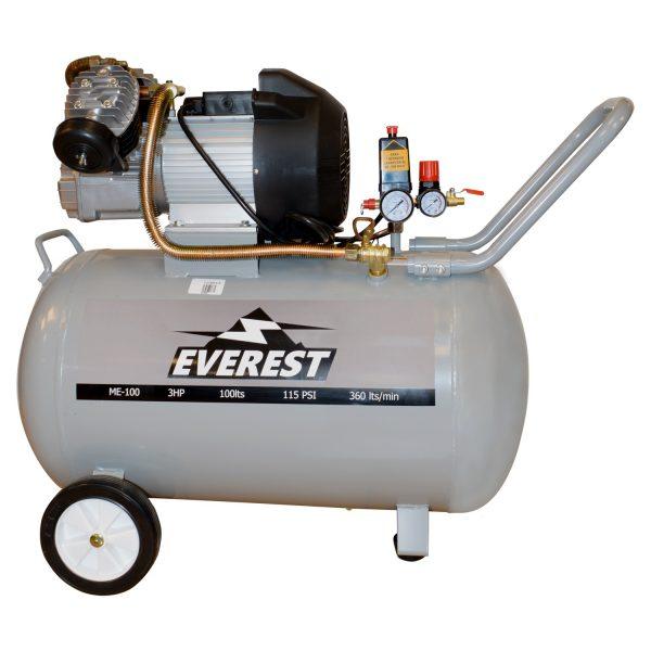 Motocompresor 100 Litros 3Hp Me-100-EVEREST - El Cuarto de Herramientas