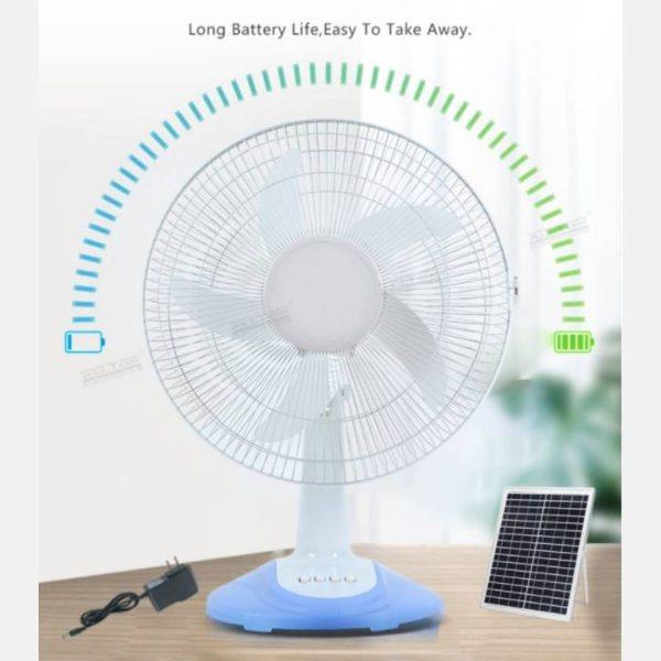 Ventilador de Mesa Solar de 16 Pulgadas con panel Solar - El Cuarto de Herramientas