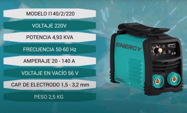 maquina soldadora energy 140